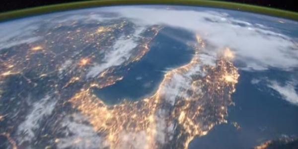 Страны и континенты вид из космоса