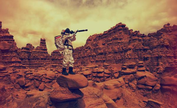 Астронавт на Марсе