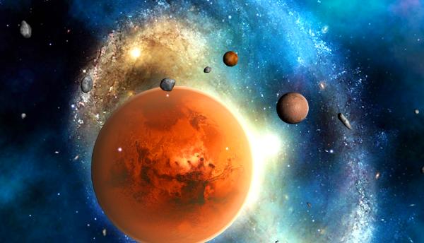 Меркурий и Марс