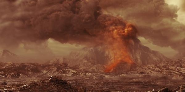Вулканическая поверхность Венеры