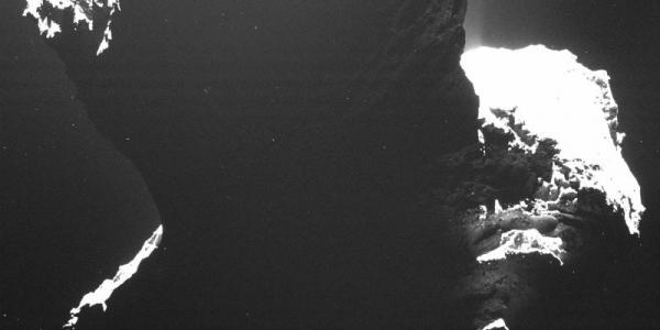 Темная сторона кометы Чурюмова - Герасименко