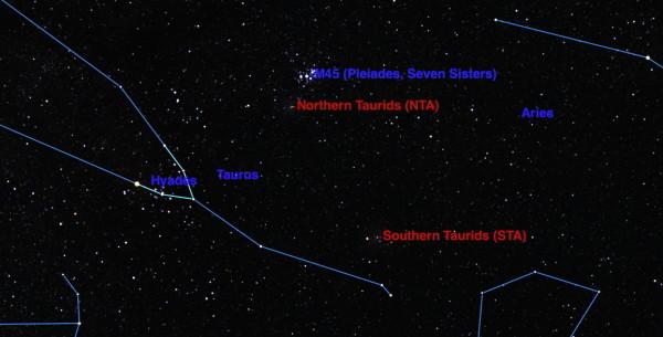 Метеориты Тауриды ноябрь 2015
