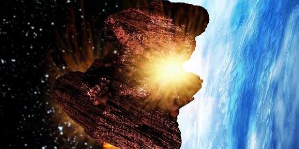 Падение огромного метеорита