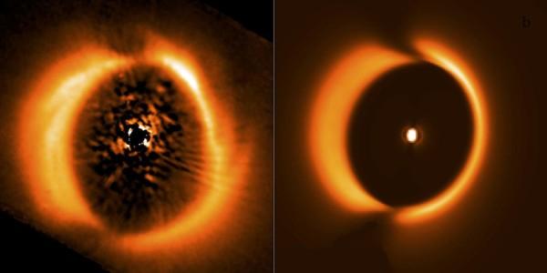 Планета и диск звезды