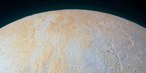 Каньоны на северном полюсе Плутона