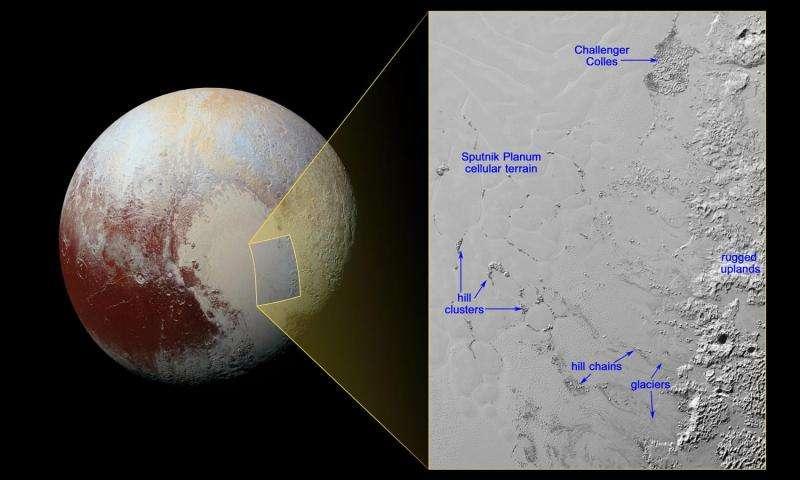 New Horizons сфотографировал водные «льдины» насердце Плутона