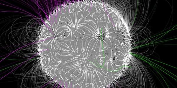 Магнитные линии и поле на Солнце