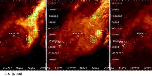 Область звездообразования и сверхгигантская звезда Каппа Ориона