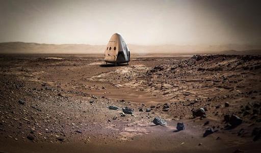 Космический корабль на Марсе