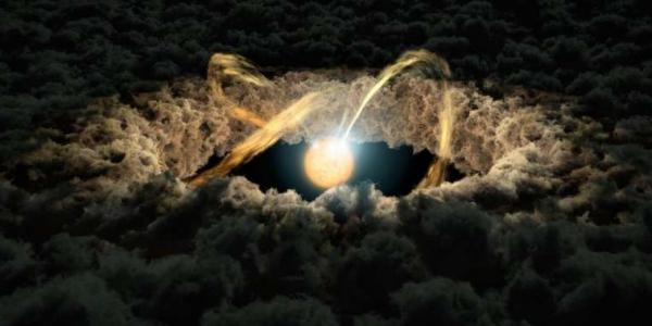 Световое эхо и протопланетный диск