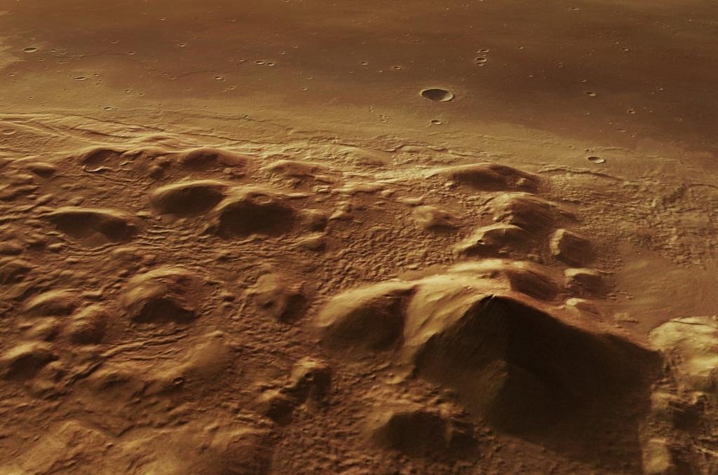 Ученые раскрыли тайну возникновения загадочных холмов в кратерах на Марсе