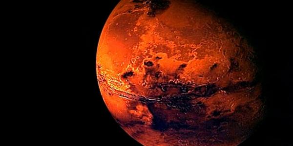 Марс в ночном небе