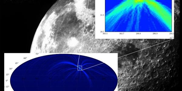 Покрытие Луной высоко энергетического космического объекта