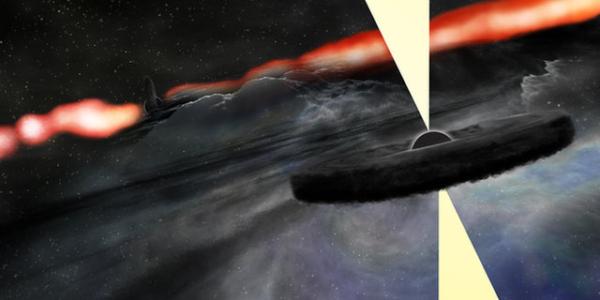 У галактического монстра – Черной дыры есть огромный сосед