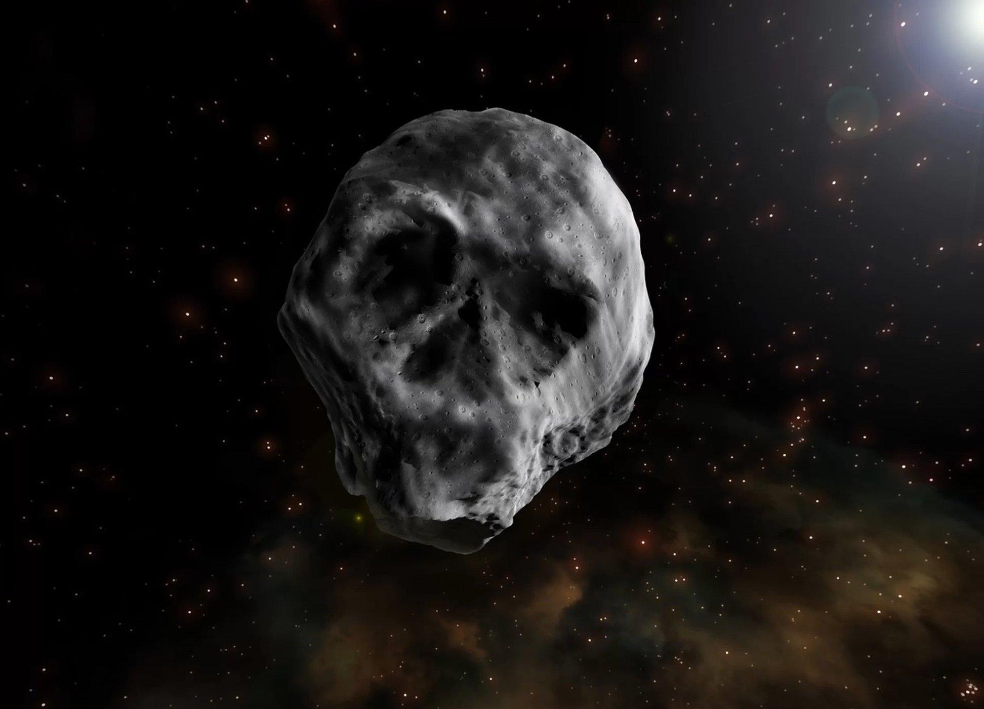 Астероид в форме ухмыляющегося черепа приблизится к нам на Хэллоуин!
