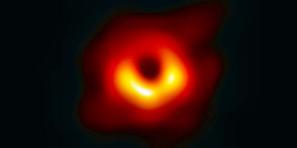 Изображение черной дыры из галактики Месье 87
