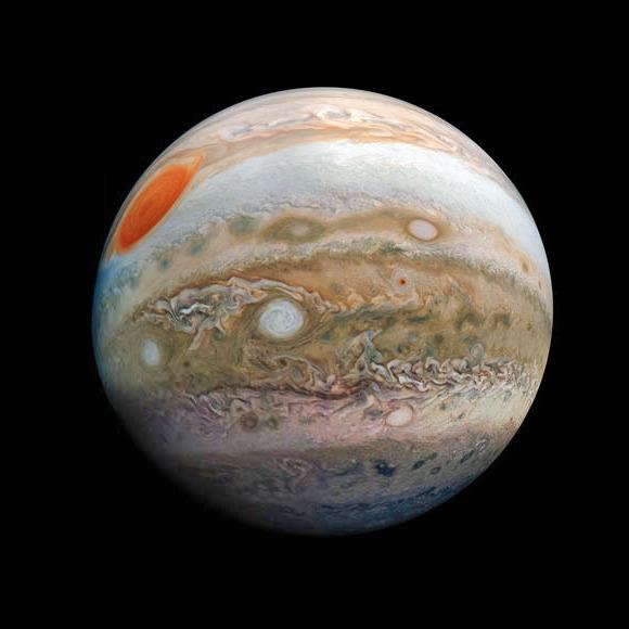 Юпитерские ветра взаимодействуют с магнитным полем, говорят ученые