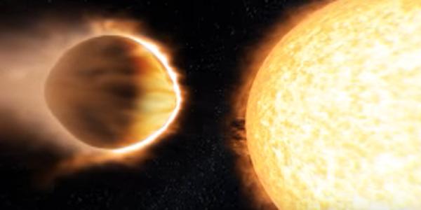 Новая экзопланета теряет тяжелые металлы