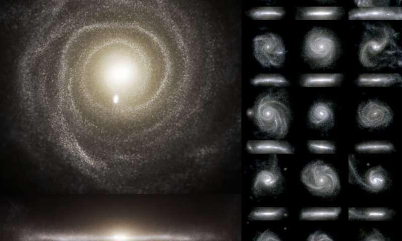 Впервые показано, что геометрия потоков космического газа вокруг галактик определяет структуру галактик, и наоборот.