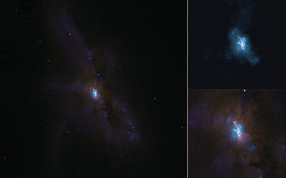 Ученые с помощью ALMA наблюдают за прекрасной бинарной системой черных дыр и за ее молекулярным газом