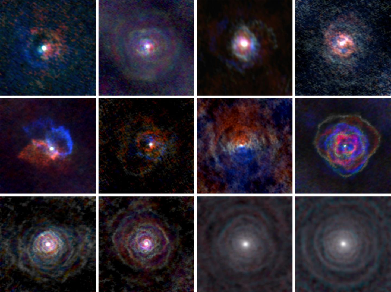 Полюбуйтесь, как звезды рисуют потрясающие уникальные туманности