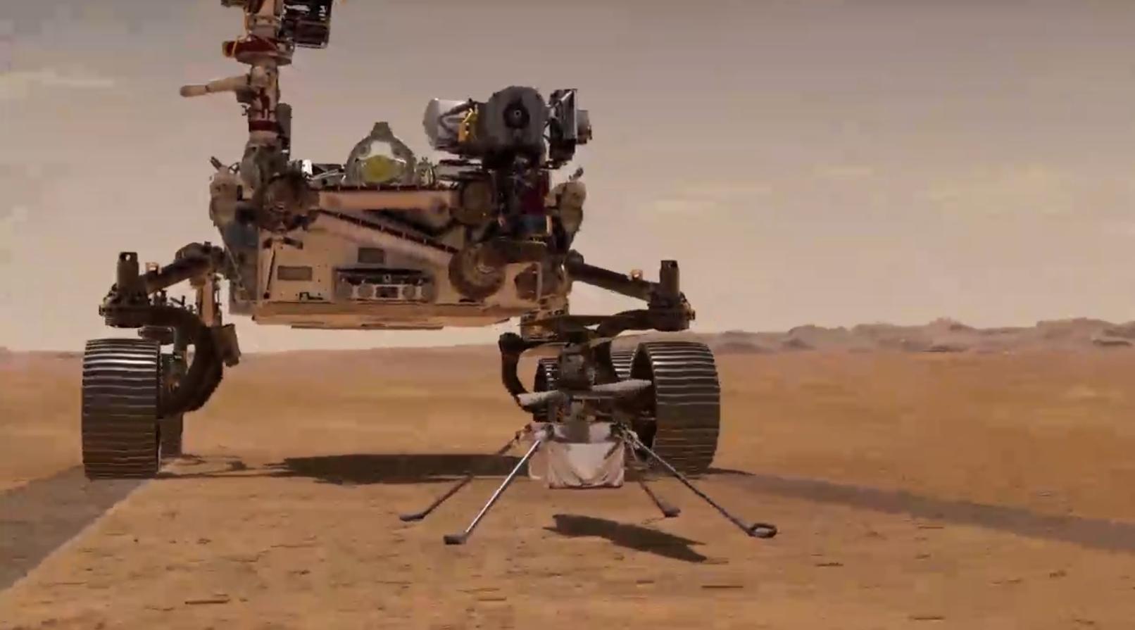 Первый вертолет в космосе и звонок с Марса
