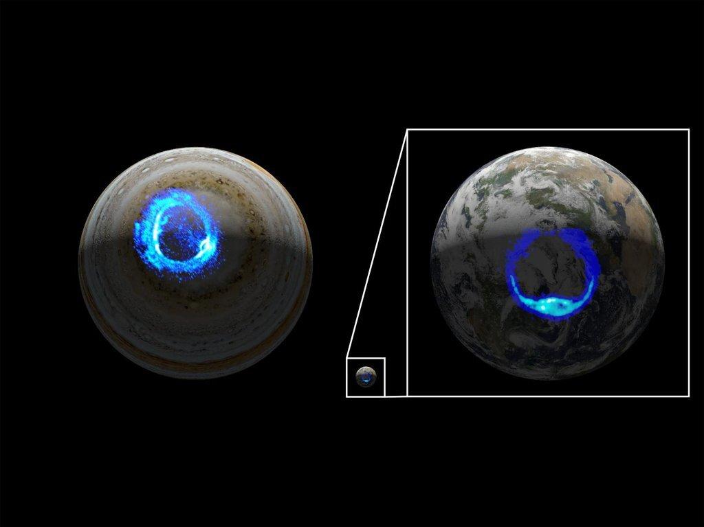 Миссия NASA выявила темный источник одного из самых грандиозных световых шоу Юпитера
