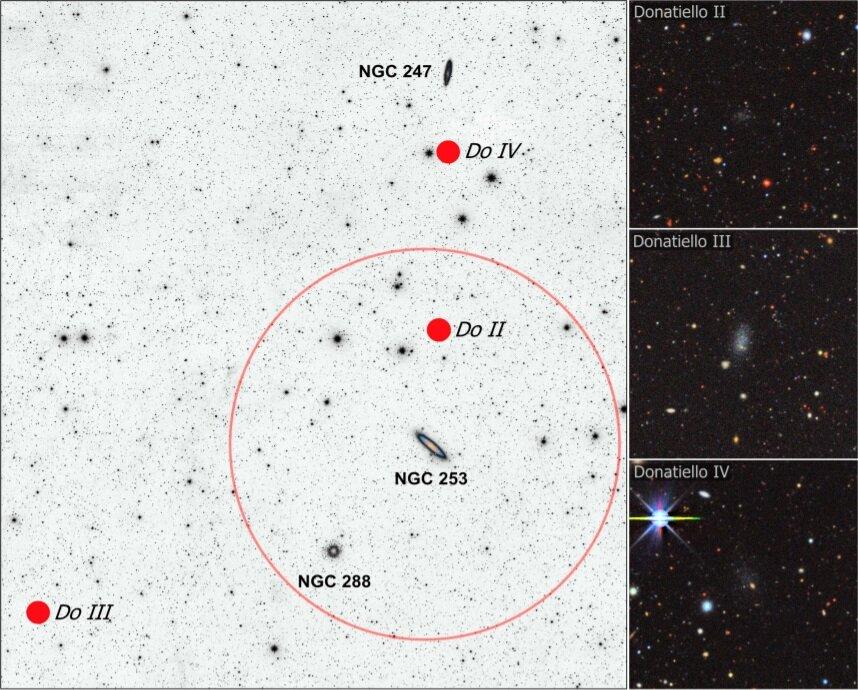 Астрономы открыли три новые тусклые карликовые галактики