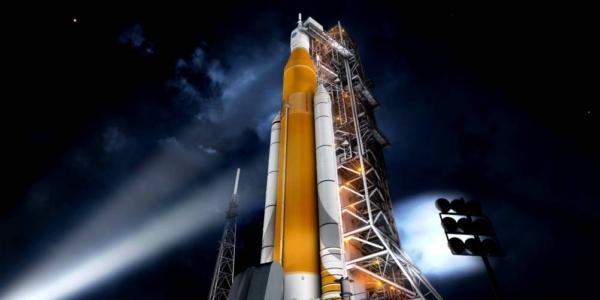 Испытательный резервуар для насовских ракетоносителей был поврежден в Луизиане