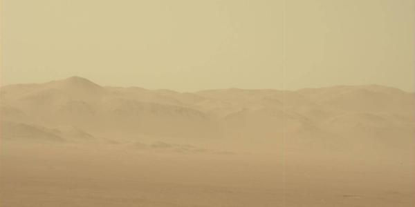 Curiosity следит за тем, как продвигается пылевая марсианская буря