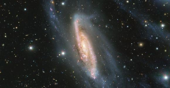 Самый мощный телескоп сделал красивейший снимок галактики NGC 3981