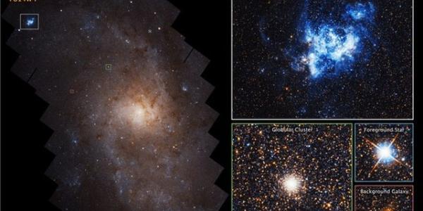 Треугольная галактика продемонстрировала невероятно симметричное расположение звезд