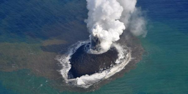 NASA увидело, как в Тихом океане появился новый остров