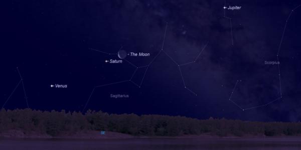 Несколько планет устроят настоящую вечеринку в ночном небе в выходные
