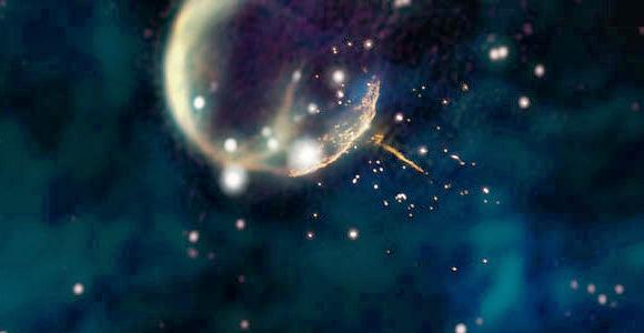 Пульсар в космосе