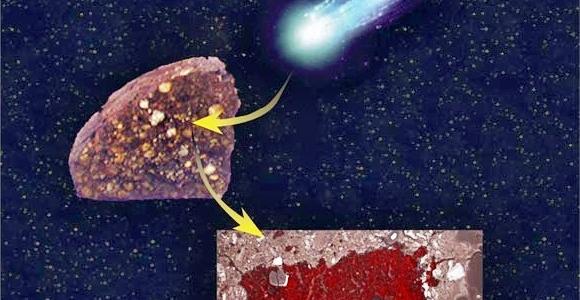 Древний метеорит содержит часть кометы