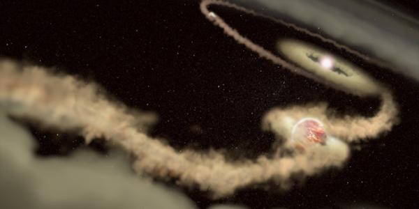 Вокруг далекой звезды движутся два новорожденных планеты-пришельца