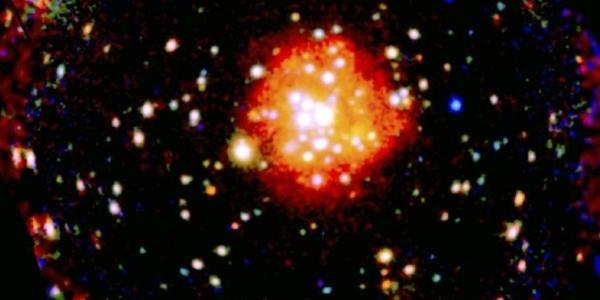 Потрясающий снимок остатков галактики
