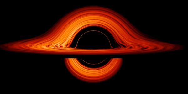 Визуализация НАСА показывает извращённый мир чёрной дыры