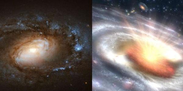 Исследования фиксируют шесть галактик, претерпевающих внезапные, драматические переходы