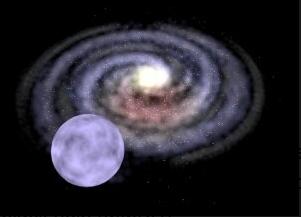 Среднемассовая черная дыра бросает звезду сквозь Млечный Путь