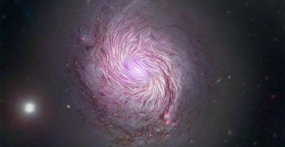 Магнитные поля играют важную роль в формировании спиральных галактик