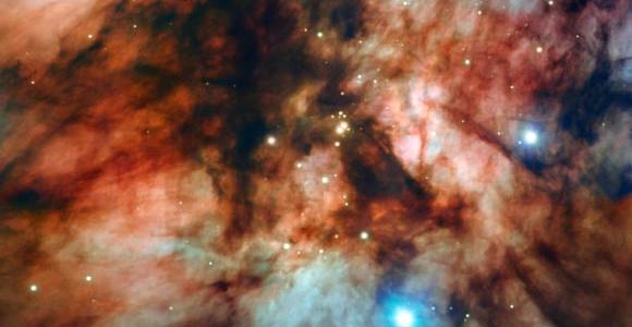 Очень большой телескоп внимательно смотрит на туманность излучения RCW 36