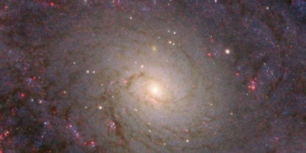 Хаббл делает снимок грандиозной спиральной галактики