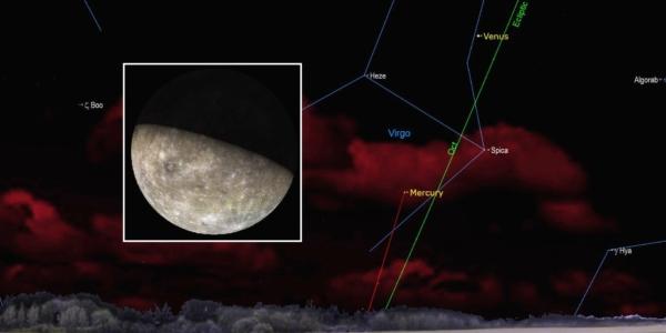 Предрассветное небесное шоу: яркое танго Меркурия и Венеры