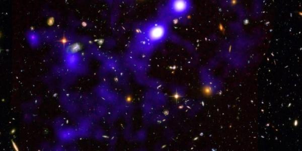 Шелковая ткань космической паутины и газовые нити скрытых галактик