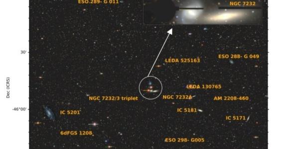 В соседней галактической группе обнаружили приливные осколки